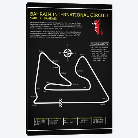 Bahrain Intl. Circuit BL Canvas Print #RGN564} by Mark Rogan Canvas Artwork
