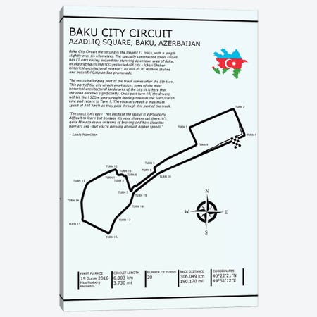 Baku City Circuit Canvas Print #RGN565} by Mark Rogan Canvas Wall Art