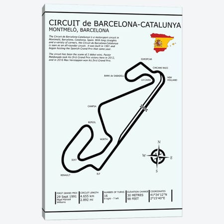 Barcelona-Catalunya Circuit Canvas Print #RGN567} by Mark Rogan Canvas Wall Art