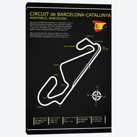 Barcelona-Catalunya Circuit BL Canvas Print #RGN568} by Mark Rogan Canvas Print