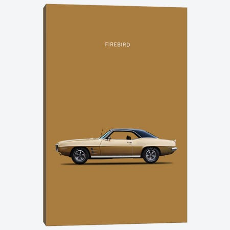 1969 Pontiac Firebird Canvas Print #RGN56} by Mark Rogan Canvas Artwork