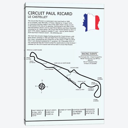 Circuit Paul Ricard Canvas Print #RGN575} by Mark Rogan Canvas Art Print