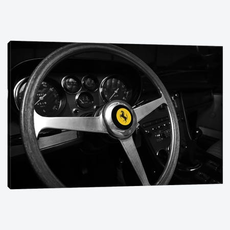 Ferrari 365GT 1968 Canvas Print #RGN582} by Mark Rogan Art Print