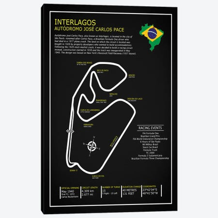 Interlagos BL 3-Piece Canvas #RGN598} by Mark Rogan Canvas Art
