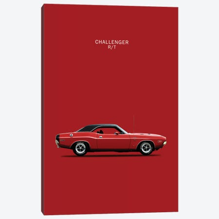 1970 Dodge Challenger R/T 3-Piece Canvas #RGN59} by Mark Rogan Canvas Art Print