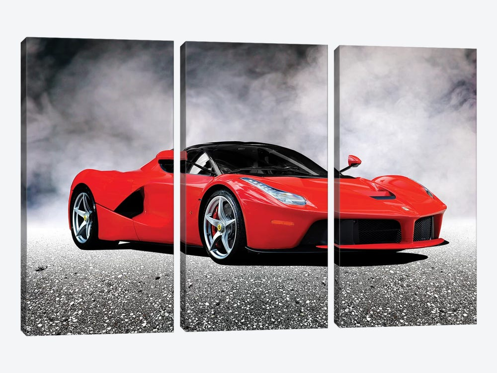 LaFerrari by Mark Rogan 3-piece Canvas Print