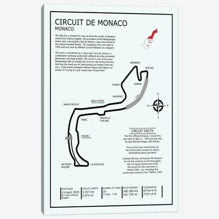 Monaco Circuit Canvas Print #RGN609} by Mark Rogan Canvas Wall Art