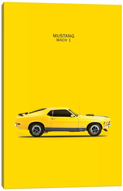 1970 Ford Mustang Mach 1 Canvas Art Print