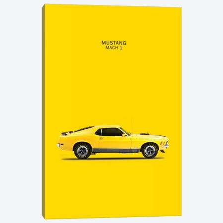 1970 Ford Mustang Mach 1 Canvas Print #RGN60} by Mark Rogan Canvas Artwork
