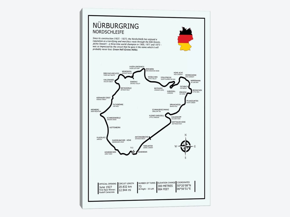 Nurburgring Nordschleife Canvas Art Print By Mark Rogan Icanvas