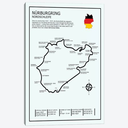 Nurburgring Nordschleife Canvas Print #RGN611} by Mark Rogan Canvas Art Print