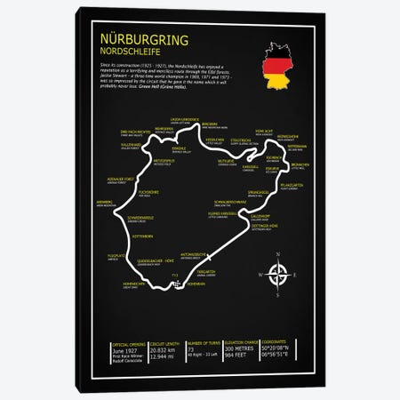 Nurburgring Nordschleife BL Canvas Print #RGN612} by Mark Rogan Art Print