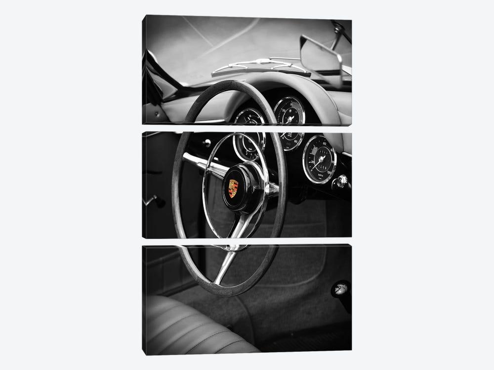 Porsche 356 Roadster by Mark Rogan 3-piece Canvas Wall Art