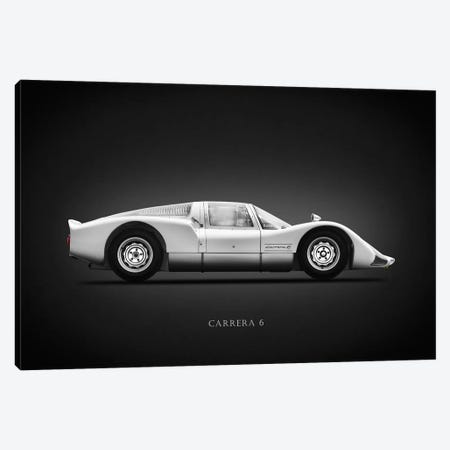 Porsche 906 Carrera6 1966 Canvas Print #RGN621} by Mark Rogan Canvas Wall Art