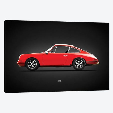 Porsche 911 1965 Canvas Print #RGN622} by Mark Rogan Canvas Wall Art