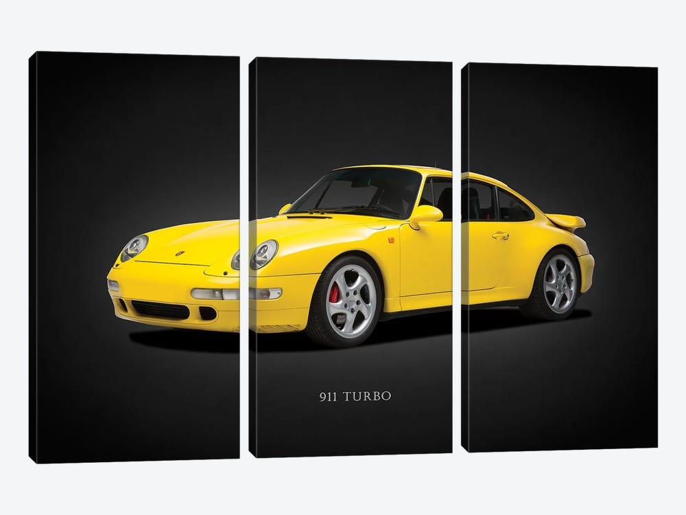 Porsche 911 Turbo 993 1997 by Mark Rogan 3-piece Canvas Artwork