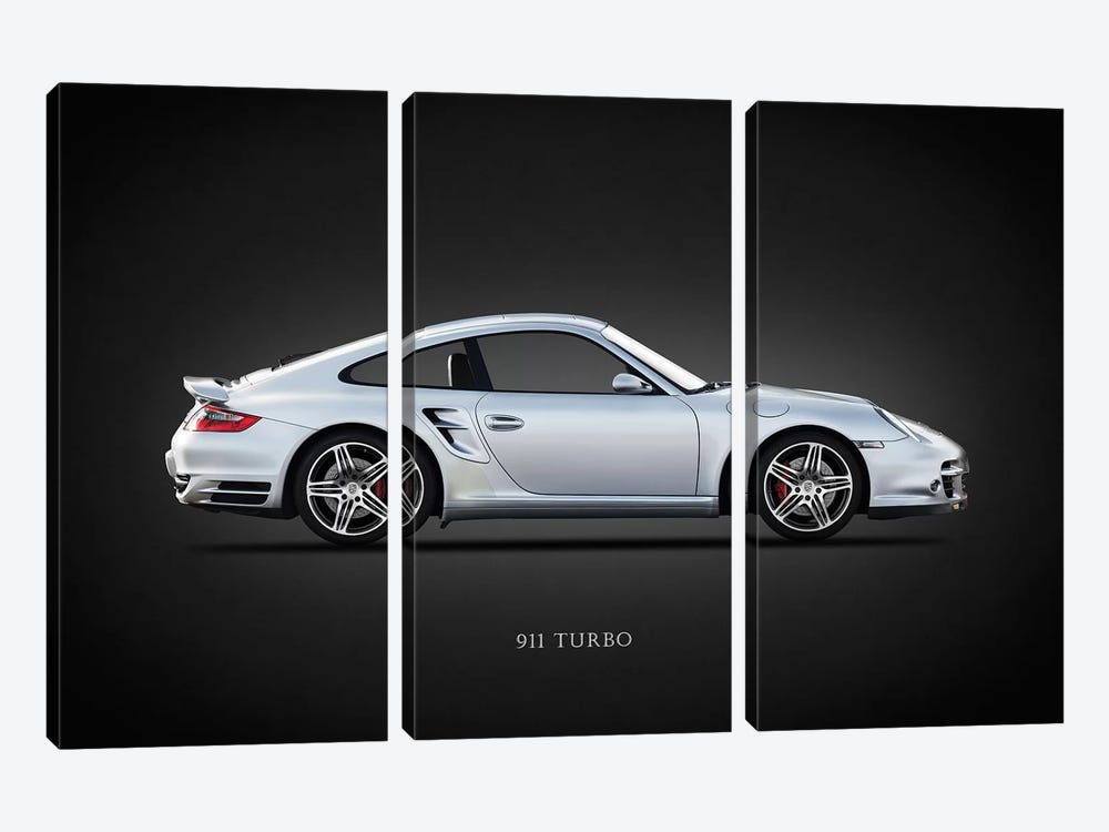 Porsche 911 Turbo 997 2007 by Mark Rogan 3-piece Art Print