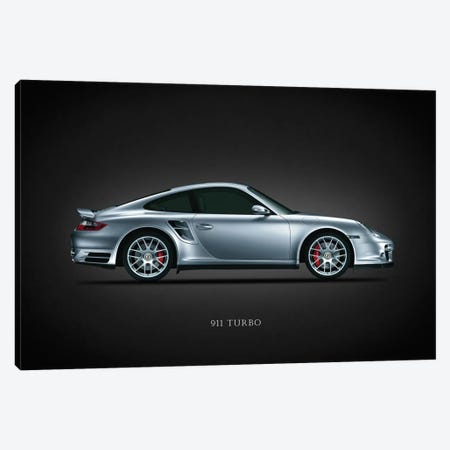 Porsche 911 Turbo Silver Canvas Print #RGN634} by Mark Rogan Canvas Art