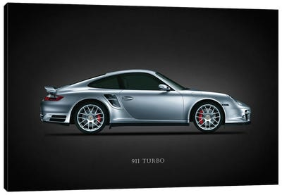 Porsche 911 Turbo Silver Canvas Art Print