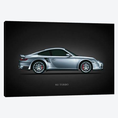 Porsche 911 Turbo Silver Canvas Print #RGN634} by Mark Rogan Canvas Art