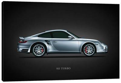 Porsche 911 Turbo Silver Canvas Art Print