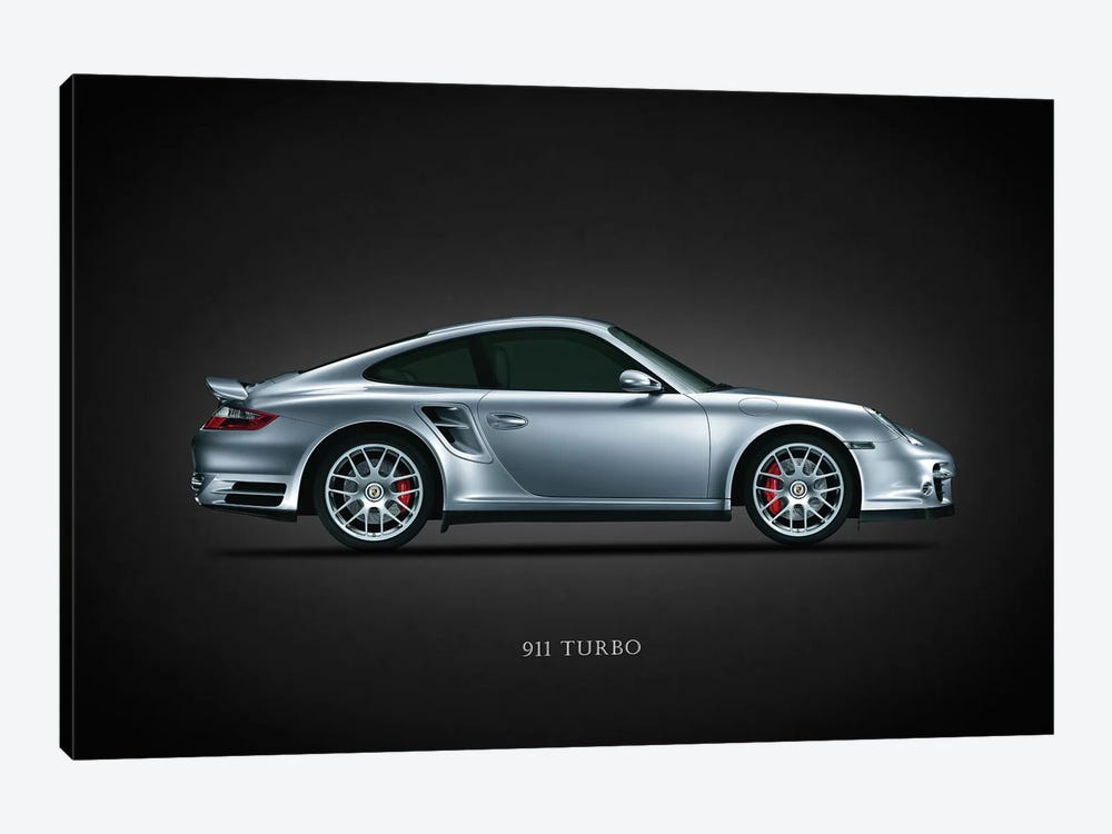Porsche 911 Turbo Silver by Mark Rogan 1-piece Canvas Art
