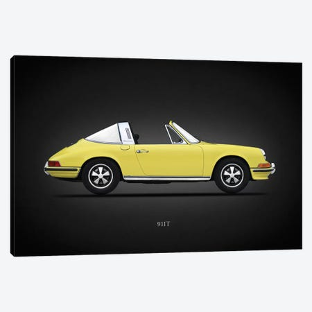 Porsche 911T Targa 1972 Canvas Print #RGN637} by Mark Rogan Canvas Wall Art