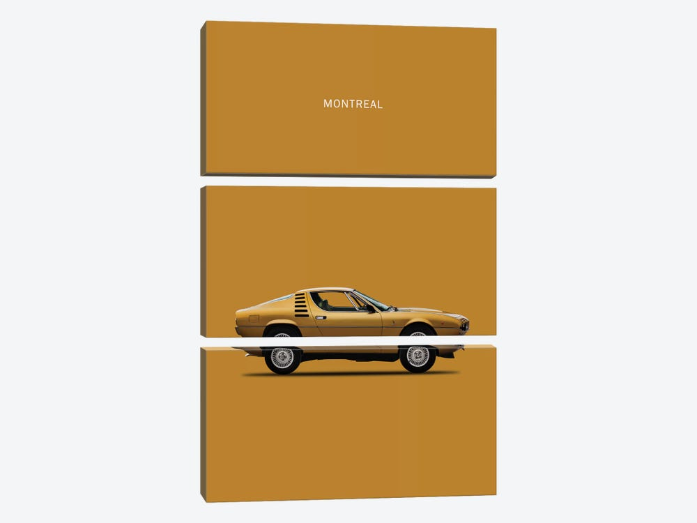 1972 Alfa Romeo Montreal by Mark Rogan 3-piece Art Print