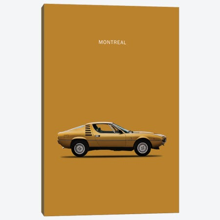 1972 Alfa Romeo Montreal Canvas Print #RGN63} by Mark Rogan Canvas Wall Art