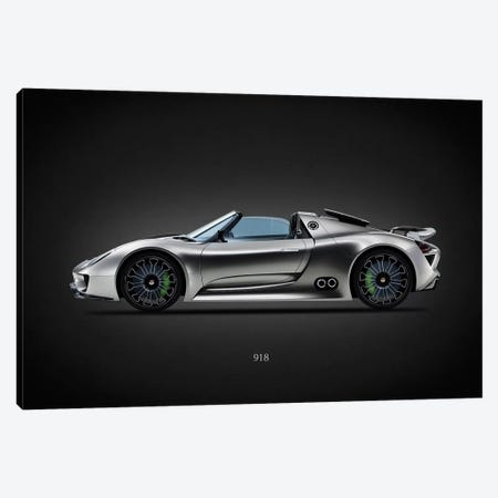 Porsche 918 Canvas Print #RGN640} by Mark Rogan Canvas Art
