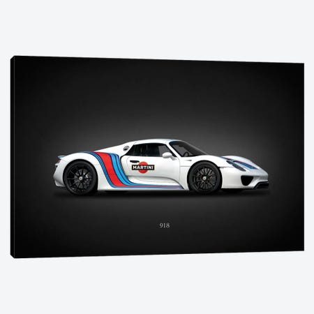 Porsche 918 Martini Canvas Print #RGN641} by Mark Rogan Canvas Artwork