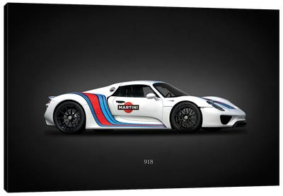 Porsche 918 Martini Canvas Art Print