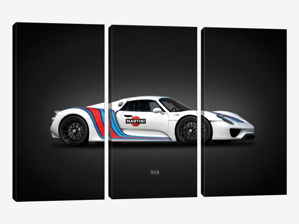 Porsche 918 Martini by Mark Rogan 3-piece Canvas Art