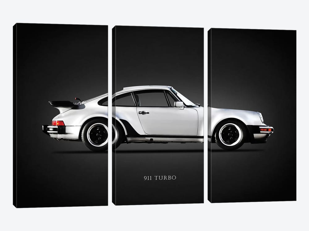 Porsche 930 911 Turbo 1984 by Mark Rogan 3-piece Canvas Wall Art
