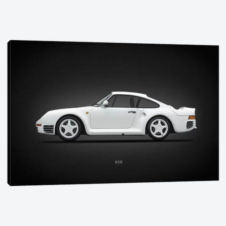Porsche 959 Canvas Print #RGN646} by Mark Rogan Canvas Print