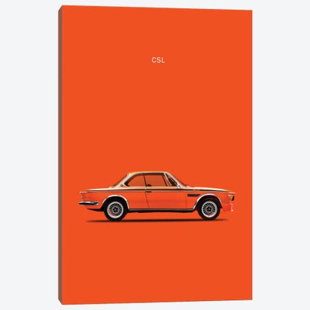 1972 BMW CSL Canvas Print #RGN64} by Mark Rogan Canvas Art Print
