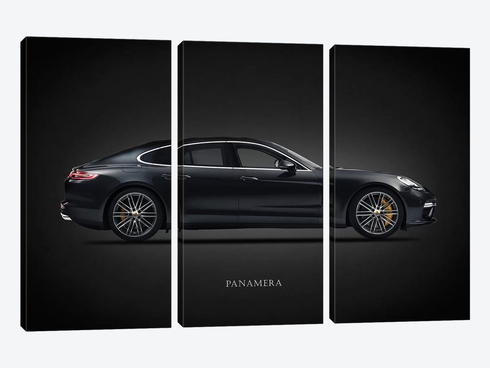 Porsche Panamera by Mark Rogan 3-piece Canvas Art Print