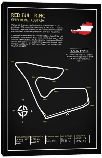 Red Bull Ring Austria BL Canvas Art Print