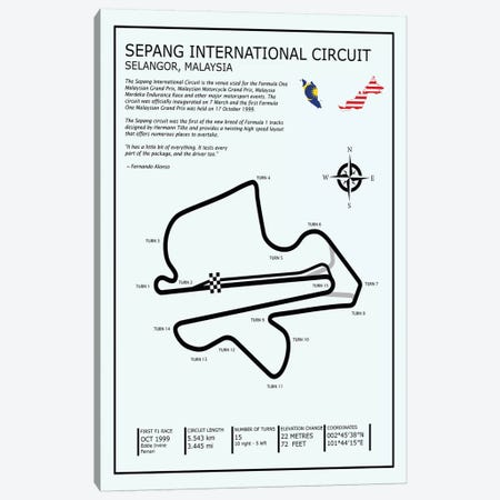 Sepang Intl. Circuit Canvas Print #RGN683} by Mark Rogan Canvas Art