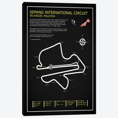 Sepang Intl. Circuit Black Canvas Print #RGN684} by Mark Rogan Canvas Print
