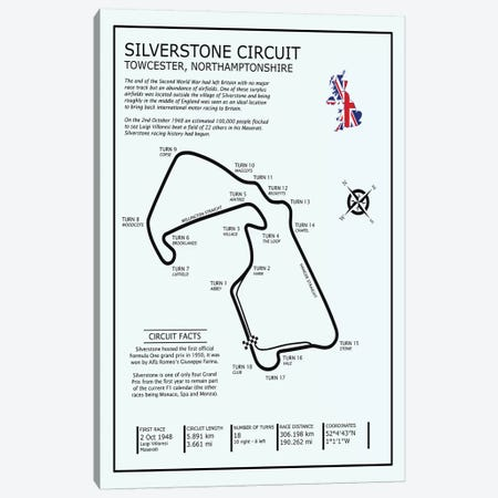 SIlverstone Circuit Canvas Print #RGN689} by Mark Rogan Canvas Art