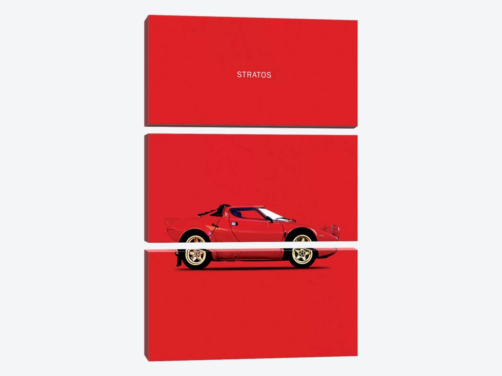 1974 Lancia Stratos HF by Mark Rogan 3-piece Canvas Art