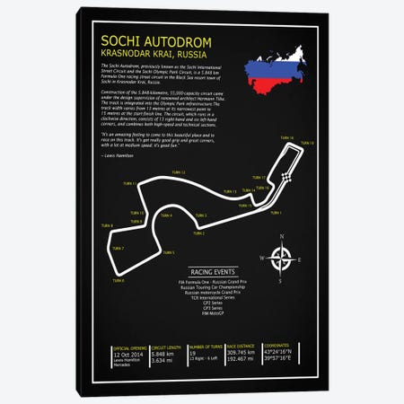 Sochi Autodrom Russia BL Canvas Print #RGN692} by Mark Rogan Canvas Art Print