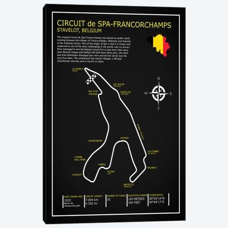Spa-francorchamps Circuit BL Canvas Print #RGN694} by Mark Rogan Canvas Wall Art