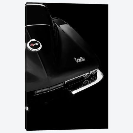 The Corvette Stingray In Black Canvas Print #RGN698} by Mark Rogan Canvas Print