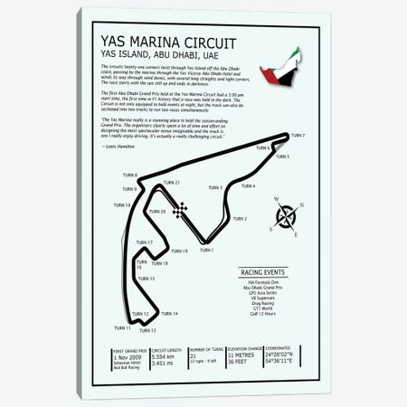 Yas Marina Circuit UAE Canvas Print #RGN700} by Mark Rogan Art Print
