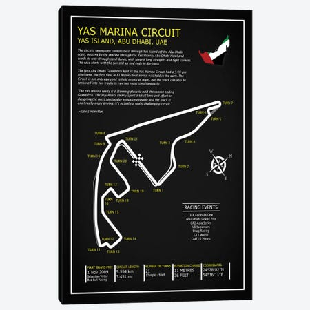 Yas Marina Circuit UAE BL Canvas Print #RGN701} by Mark Rogan Canvas Print