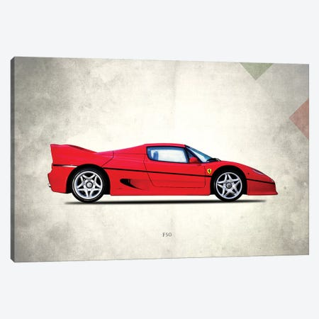 Ferrari F50 Canvas Print #RGN704} by Mark Rogan Canvas Wall Art