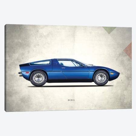 Maserati Bora 1973 Canvas Print #RGN706} by Mark Rogan Canvas Wall Art