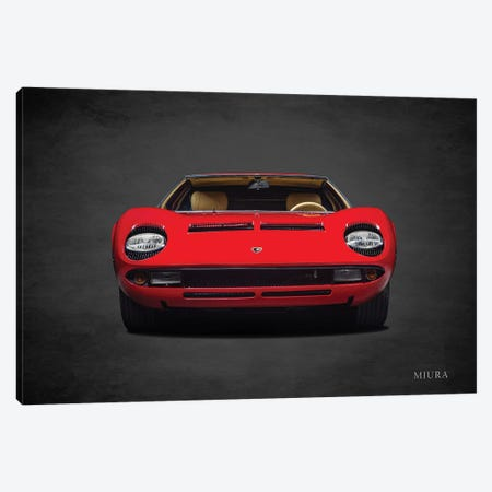 Lamborghini Miura Canvas Print #RGN708} by Mark Rogan Art Print